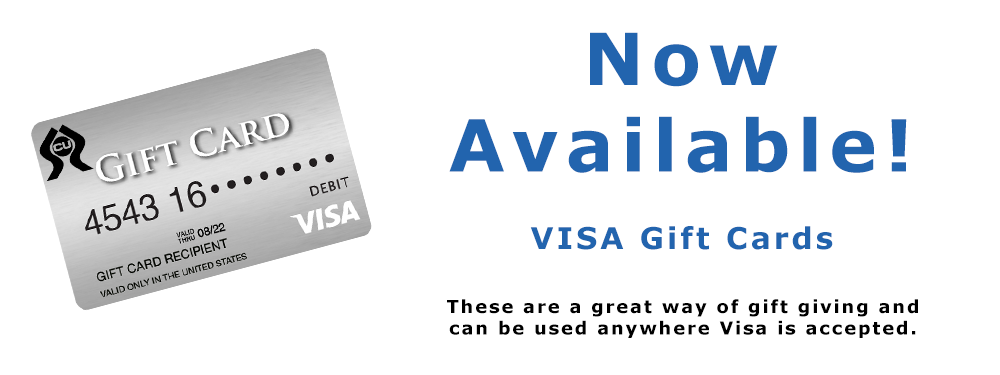 VISA gift cards are here!